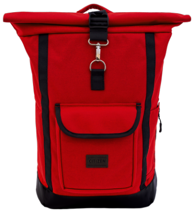 Backpack Rolltop City (Red)